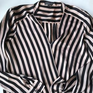 Vince Camuto striped Long sleeve shirt silk style